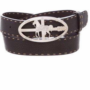 FENDI • Selleria Equestrian 🐎  Leather Belt